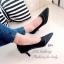 รองเท้าคัทชูหัวแหลม ต่อขอบหนัง ทรงสุภาพ (สีดำ ) thumbnail 4