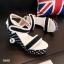 รองเท้าส้นเตารีดปบบรัดข้อเท้า ลายจุด (สีดำ ) thumbnail 3
