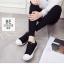 รองเท้าผ้าใบ Sneaker Converse Style (สีดำ ) thumbnail 3