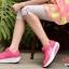 รองเท้าผ้าใบเสริมส้น ผ้าตาข่ายบุนวม (สีชมพู ) thumbnail 3