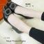 รองเท้าคัทชูส้นสูง หัวแหลม แต่งคริสตัลใส (สีดำ) thumbnail 2