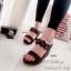 รองเท้าส้นเตารีด สไตล์ลำลอง (สีดำ) thumbnail 4