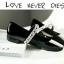 รองเท้าคัชชู หนังแก้วนิ่ม (สีดำ) thumbnail 2