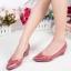 รองเท้าคัทชูส้นเตารีด หัวแหลม หนังPUนิ่ม (สีแดง ) thumbnail 2