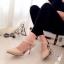 รองเท้าส้นสูงรัดส้น แปะเฉียง (สีครีม ) thumbnail 3