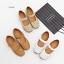 รองเท้าคัทชูเพื่อสุขภาพ เมจิกเทป หนังเจาะลายดอกไม้ (สีขาว) thumbnail 9