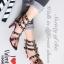 รองเท้าส้นสูง ทรงส้นเข็มรัดข้อ สไตล์ valentino (สีดำ)
