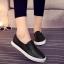 รองเท้าผ้าใบแฟชั่น แบบสวม ทรงนินจา (สีดำ ) thumbnail 3