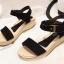 รองเท้าแตะรัดส้น สไตล์ลำลอง (สีดำ ) thumbnail 2