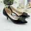 รองเท้าคัทชู เว้าข้าง ทำจากพียูแก้ว (สีดำ ) thumbnail 3