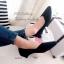 รองเท้าคัทชูส้นเตี้ย หนังกลิตเตอร์ (สีดำ ) thumbnail 2