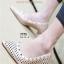รองเท้าคัทชู หนังฉลุ (สีAPRICOT)