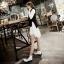 รองเท้าบูทสไตล์เท่ห์ แนววินเทจ (สีขาว) thumbnail 5