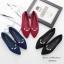 รองเท้าคัทชู หัวแหลม แต่งมุก (สีแดง) thumbnail 8