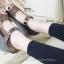 รองเท้าส้นเตารีด หุ้มส้น ลายชิโนริ (สีน้ำตาล ) thumbnail 4