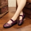 """รองเท้าคัชชูสีชมพู สไตล์ปักกิ่ง ลายดอกไม้สวยหวานดูดี หน้า 0.5"""" ส้น 1.1 """" thumbnail 2"""