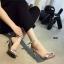 รองเท้าส้นสูงรัดส้น สไตล์Zara (สีเงิน ) thumbnail 4