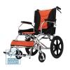 เก้าอี้รถเข็นผู้ป่วยพับได้ Wheelchair ล้อเล็ก Color Orange