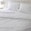 ชุดผ้าปูที่นอนโรงแรมสีขาวลายร้ิวขนาด 5 ฟุต