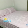 ชุดผ้าปูที่นอนโรงแรมลายริ้ว 3.5 ฟุต (3 ชิ้น) สีชมพูอ่อน