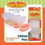 0104 -- ภาชนะบรรจุอาหารสำหรับเด็ก [Baby Cubes 4 Oz.]
