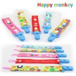 สายคล้องจุกหลอก/ของเล่น Happy monkey