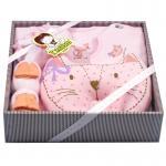 [สีชมพู] ชุดของขวัญเสื้อผ้า 5 ชิ้น(เด็กแรกเกิด 0-6 เดือน) TomTom joyful