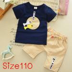 [Size110] ชุดเสื้อกางเกงลายปลา