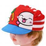 [สีแดง] หมวกแก๊ปเด็กลายกระต่ายกินแครอท
