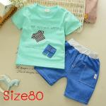 [Size80] ชุดเสื้อกางเกงลายเสื้อผ้า