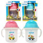 5464-5465 -- ถ้วยหัดดื่มพร้อมหลอดซิลิโคน Natur Straw Training Cup [Designed in France]