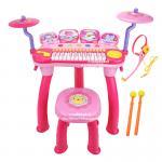 [สีชมพู] ชุดเปียโนออร์แกน Baoli DJ Piano Drum Combination