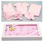 [ชมพู] ชุดของขวัญเสื้อผ้า 10 ชิ้น(เด็กแรกเกิด 0-6 เดือน) TomTom joyful