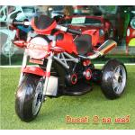 5299 -- รถแบตเตอรี่เด็ก Ducati 2 มอเตอร์ สีแดง