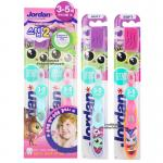 [แพคคู่][ลายเด็กผู้หญิง] [Step2] Jordan แปรงสีฟันสำหรับเด็ก 3-5 ปี