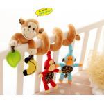 0259-- [ลิงน้ำตาล] โมบาย เกลียว พันรถเข็น-เตียง มีเพลง Sozzy
