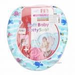 [สัตว์ทะเล] ฝารองนั่งชักโครกหุ้มเบาะนิ่ม Farlin Soft baby potty seat