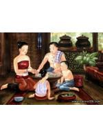 ภาพศิลปะล้านนา รูปแม่ญิงป่อชายรหัสสินค้า A - 59