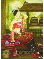 ภาพศิลปะล้านนา รูปแม่ญิงไทลื้อ รหัสสินค้า A - 26