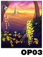 ภาพวาดแนวจริยศิลป์ล้านนา พิมพ์ลงผ้าใบ รหัสสินค้า OP - 03