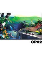 ภาพวาดแนวจริยศิลป์ล้านนา พิมพ์ลงผ้าใบ รหัสสินค้า OP - 02