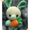 กระต่ายถือแครอท มินิอุซางิ สีเขียว