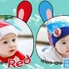 หมวกหูยาวลายกระต่าย Minito