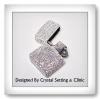 ไฟแช็ค Zippo สีขาวเพชร ( Zippo Lighter in crystal color )