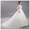 wm5054 ชุดแต่งงานราคาถูก แนวเจ้าหญิง ชุดเจ้าสาวแขนยาว ที่สวยหรูที่สุดในโลก