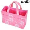 กระเป๋าช่องแบ่งยางยืดสีชมพู Insular