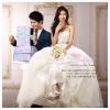 WB40013 ขาย ชุดแต่งงาน แบบเกาะอก สไตล์เจ้าหญิง กระโปรงฟองฟู แบบ ชุดแต่งงานดารา สวยที่สุดในโลก ราคาถูก