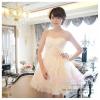 Q-0104 ชุดไปงานแต่งงาน แบบเกาะอกรูปหัวใจ ชุดไปงานแต่งงานน่ารัก