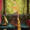 ภาพศิลปะล้านนา รูปแม่ญิง รหัสสินค้า A - 61