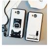 เคสมือถือ Huawei y3ii เคสซิลิโคนขอบดำลายน้องแมว [Pre-Order]